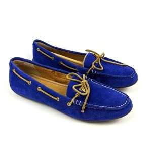 Sperry Royal Blue Suede Loafers Boat Shoes